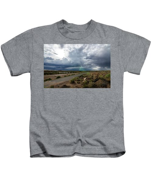Watching The Storms Roll By Kids T-Shirt
