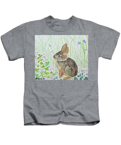 Watercolor - Baby Bunny Kids T-Shirt
