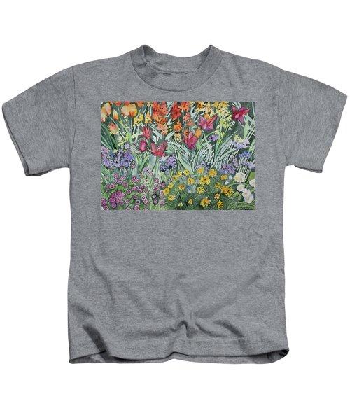 Watercolor - Empress Hotel Gardens Kids T-Shirt