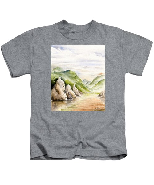 Watercolor Landscape Plein Air Kids T-Shirt