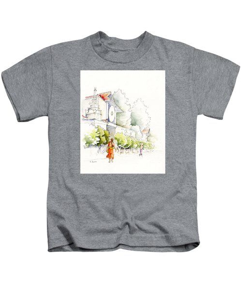 Watercolor Painting Of Monk Kids T-Shirt