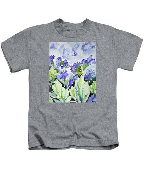 Watercolor - Rocky Mountain Wildflowers Kids T-Shirt
