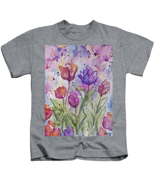 Watercolor - Spring Flowers Kids T-Shirt