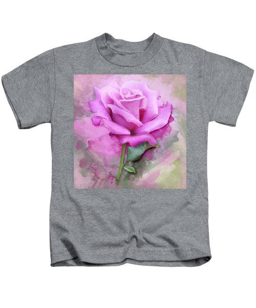 Watercolour Pastel Lilac Rose Kids T-Shirt