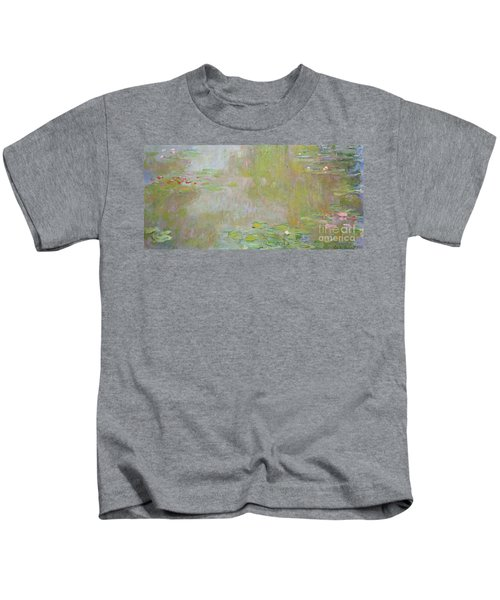 Waterlilies At Giverny Kids T-Shirt