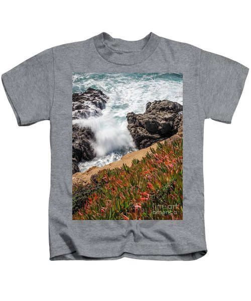 Waves And Rocks At Soberanes Point, California 30296 Kids T-Shirt
