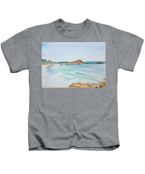 Waves Arriving Ashore In A Tasmanian East Coast Bay Kids T-Shirt