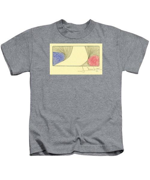 Waves Blue Red Kids T-Shirt