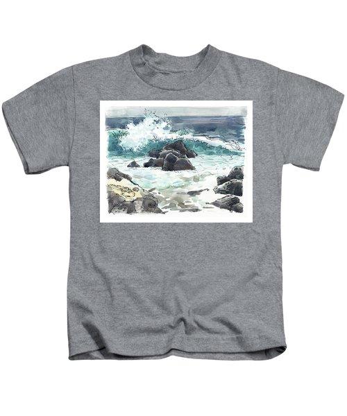 Wawaloli Beach, Hawaii Kids T-Shirt