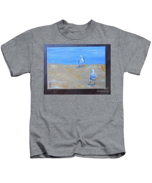 We First Met On The Beach Kids T-Shirt