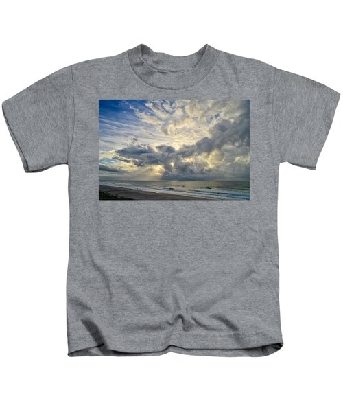 Weather Over Topsail Beach 2977 Kids T-Shirt