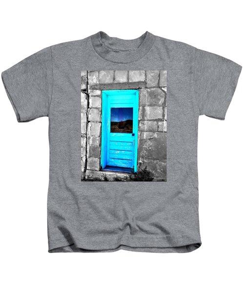 Weathered Blue Kids T-Shirt