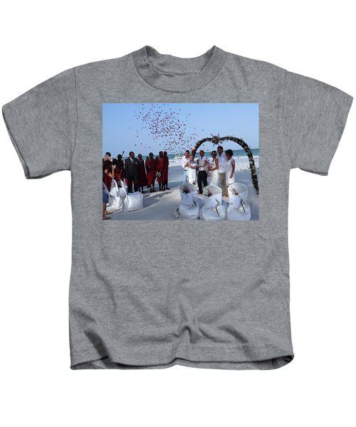 Wedding Party In Rose Petals Kids T-Shirt