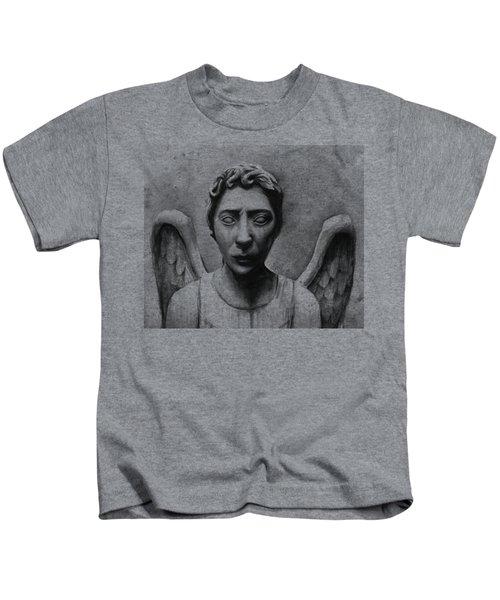 Weeping Angel Don't Blink Doctor Who Fan Art Kids T-Shirt