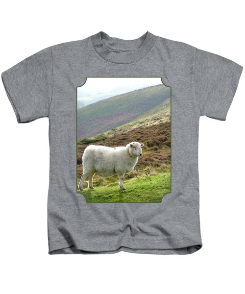 Welsh Mountain Sheep Kids T-Shirt by Gill Billington