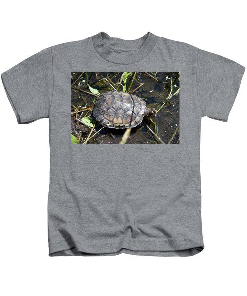 Western Pond Turtle, Actinemys Marmorata Kids T-Shirt