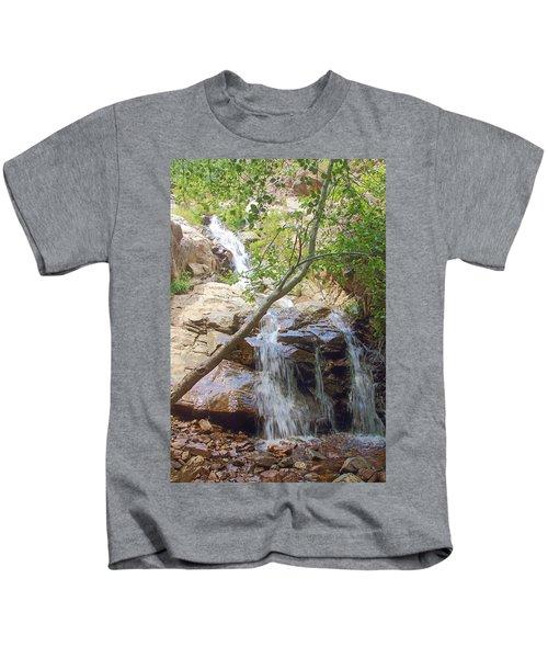 Western Side Of Etiwanda Falls Kids T-Shirt