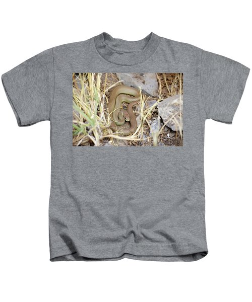 Western Yellow-bellied Racer, Coluber Constrictor Kids T-Shirt