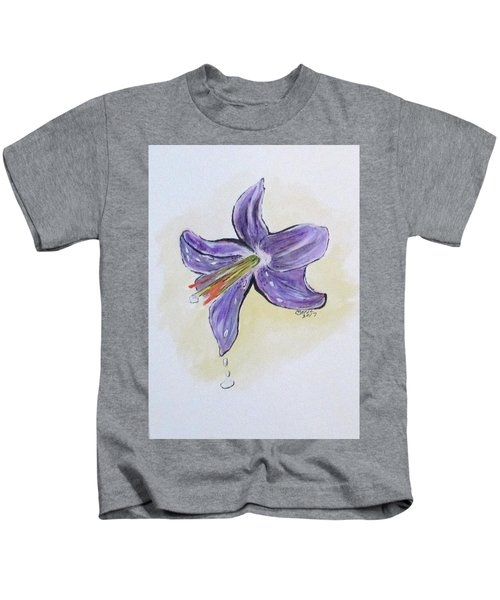 Wet Flower Kids T-Shirt