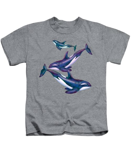 Whale Whimsey Design Kids T-Shirt by Teresa Ascone