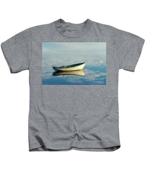 White Boat Reflected Kids T-Shirt