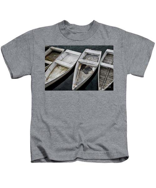 White Boats Kids T-Shirt
