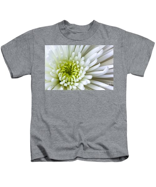 White Chrysanthemum Kids T-Shirt