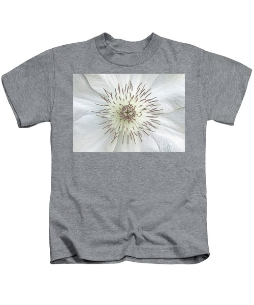 White Clematis Flower Garden 50121b Kids T-Shirt