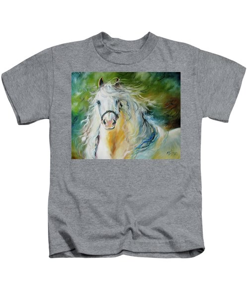 White Cloud The Andalusian Stallion Kids T-Shirt