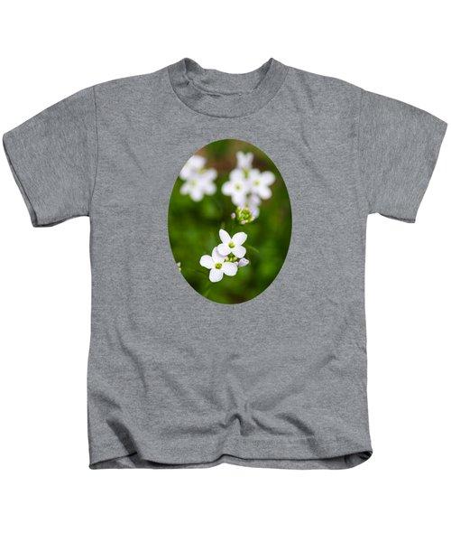 White Cuckoo Flowers Kids T-Shirt