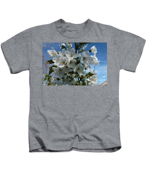 White Flowers - Variation 2 Kids T-Shirt