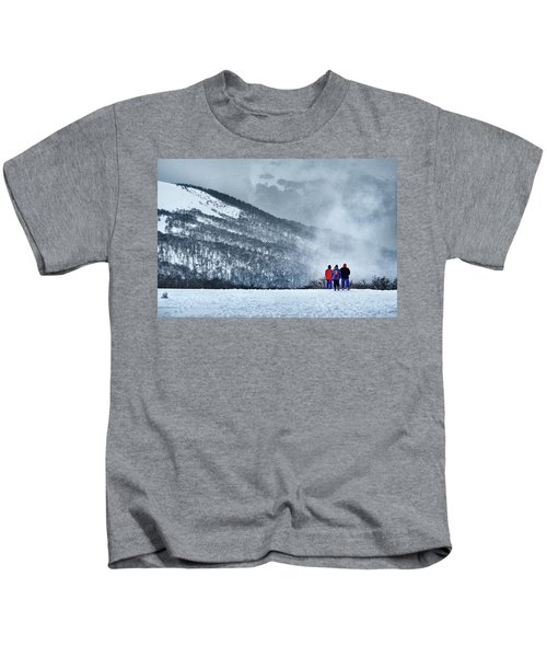 White Landscape In The Frozen Paradise In The Argentine Patagonia Kids T-Shirt