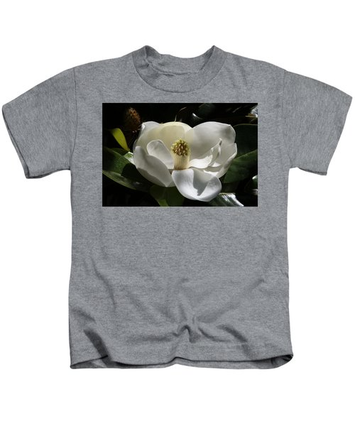 White Magnolia Flower Kids T-Shirt