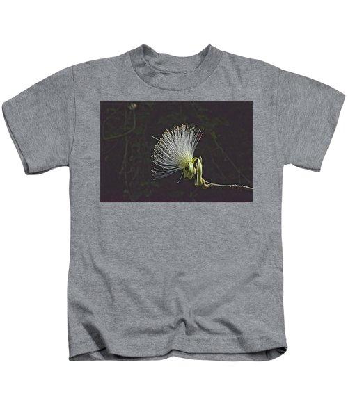 White Shaving Brush Pseudobombax Flower Kids T-Shirt