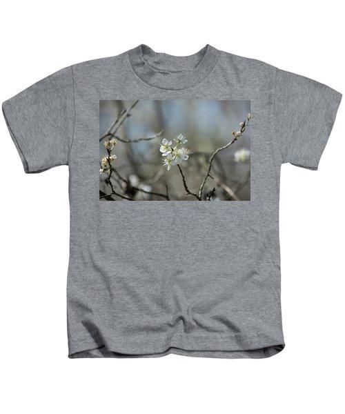 White Tree Bud Kids T-Shirt