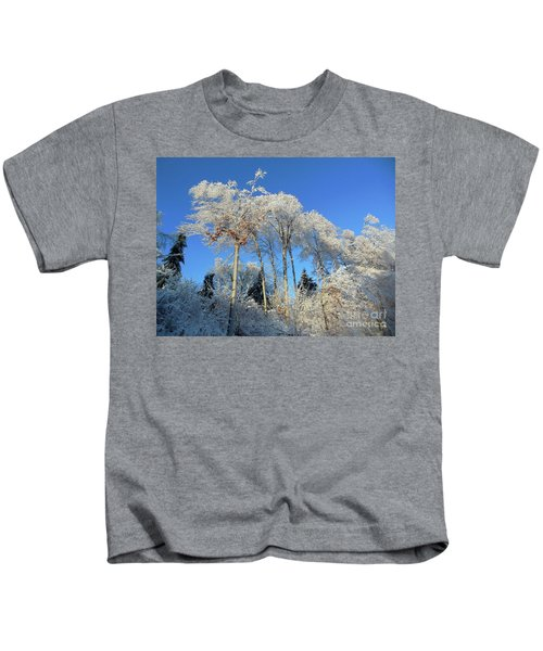 White Trees Clear Skies Kids T-Shirt