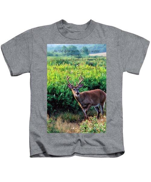 Whitetail Deer Panting Kids T-Shirt