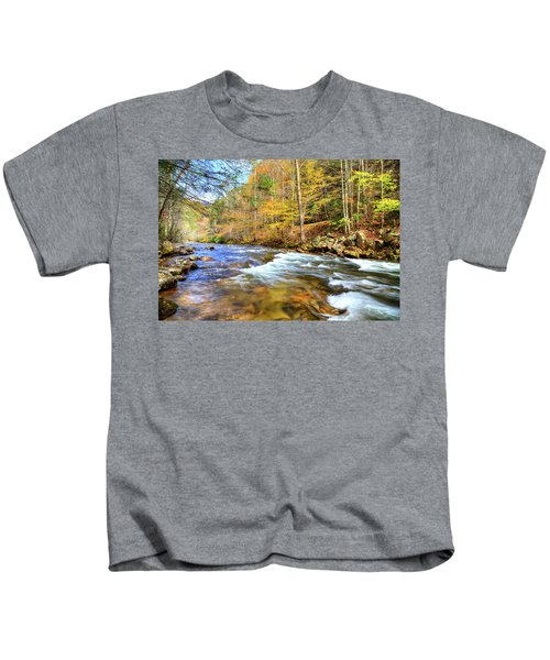 Whitetop River Fall Kids T-Shirt