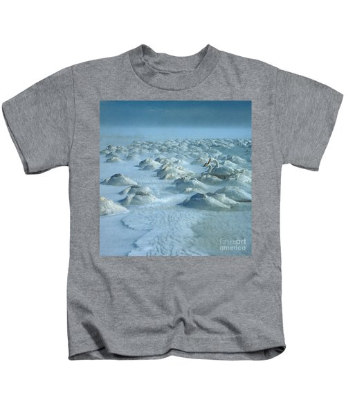 Whooper Swans In Snow Kids T-Shirt