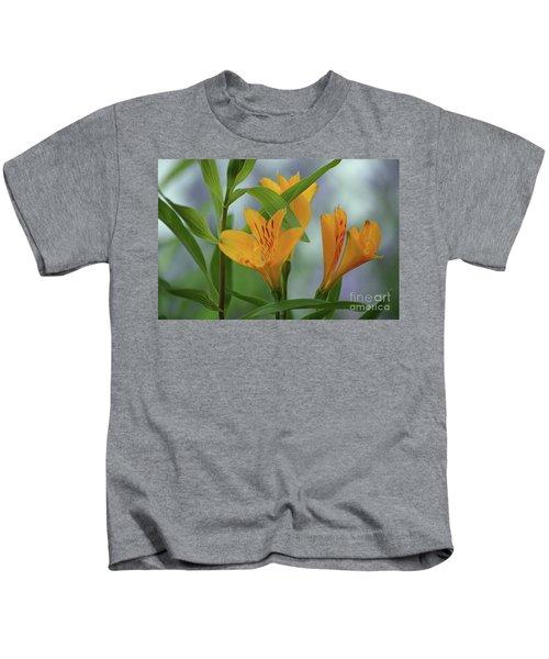 Wild Garden Lilies Kids T-Shirt