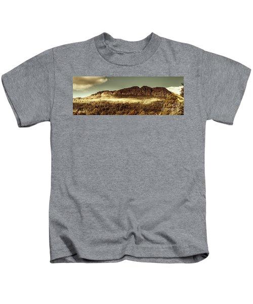 Wild West Mountain Panorama Kids T-Shirt