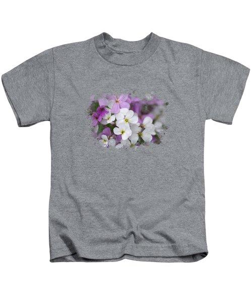 Wildflower Watercolor Art Kids T-Shirt