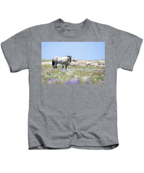 Wildflowers And Mustang Kids T-Shirt