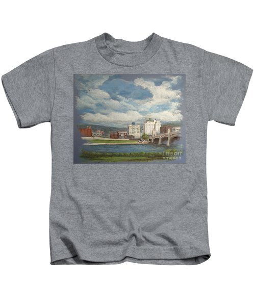 Wilkes-barre And River Kids T-Shirt
