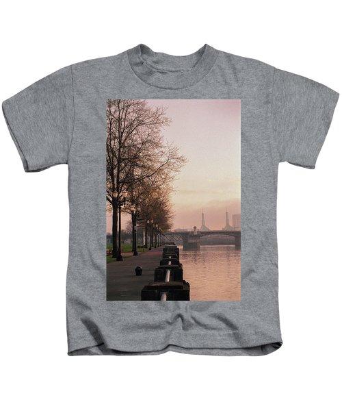 Willamette Riverfront, Portland, Oregon Kids T-Shirt