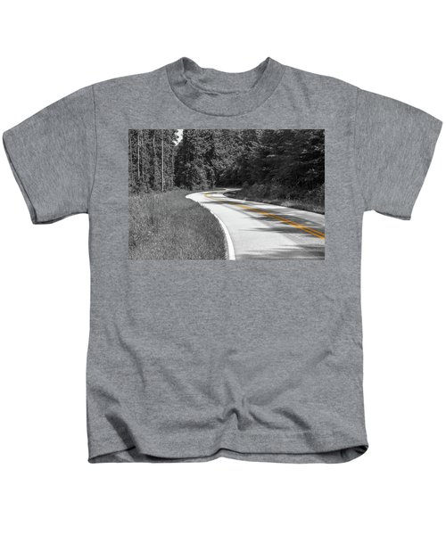 Winding Country Road In Selective Color Kids T-Shirt