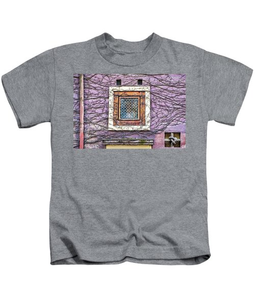 Window And Vines - Prague Kids T-Shirt