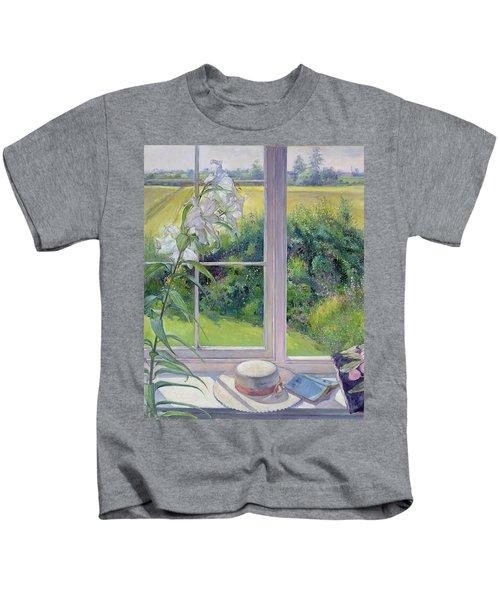 Window Seat And Lily Kids T-Shirt