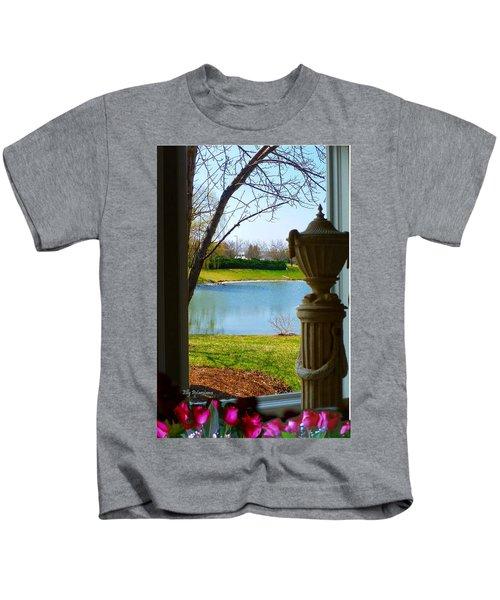 Window View Pond Kids T-Shirt