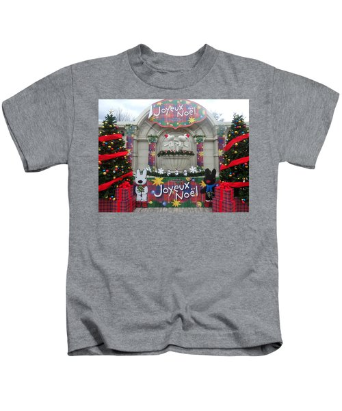 Winter Amusement Park Kids T-Shirt